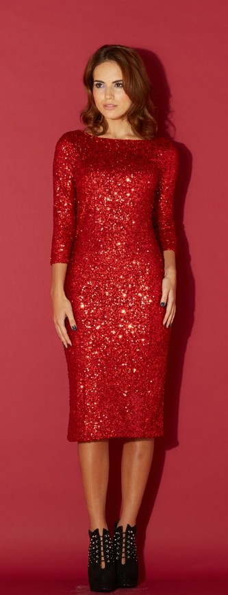 Alice&You Red Sequin Dress from Stylistpick