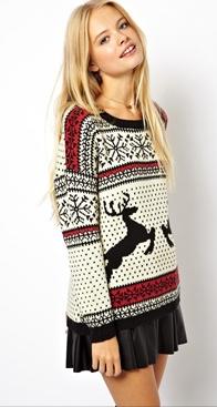 ASOS reindeer jumper- http://www.asos.com/ASOS/ASOS-Christmas-Jumper-in-Reindeer-Fairisle/Prod/pgeproduct.aspx?iid=3157113&cid=2637&Rf996=4071&sh=0&pge=0&pgesize=36&sort=-1&clr=Multi