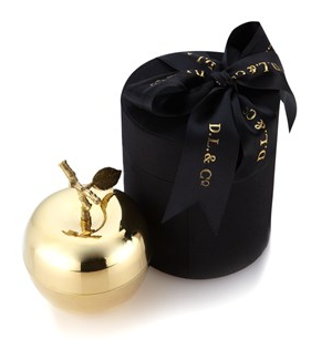 D.L.& Co gold La Pomme candle at avenue 32 -   http://www.avenue32.com/gifts/all-gifts/gold-la-pomme-grande-candle-24401.html