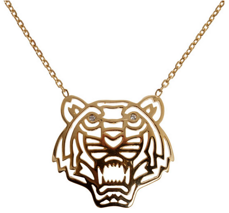Kenzo tiger necklace at Liberty London -  http://www.liberty.co.uk/fcp/product/Liberty//Gold-Plated-Tiger-Necklace/87245