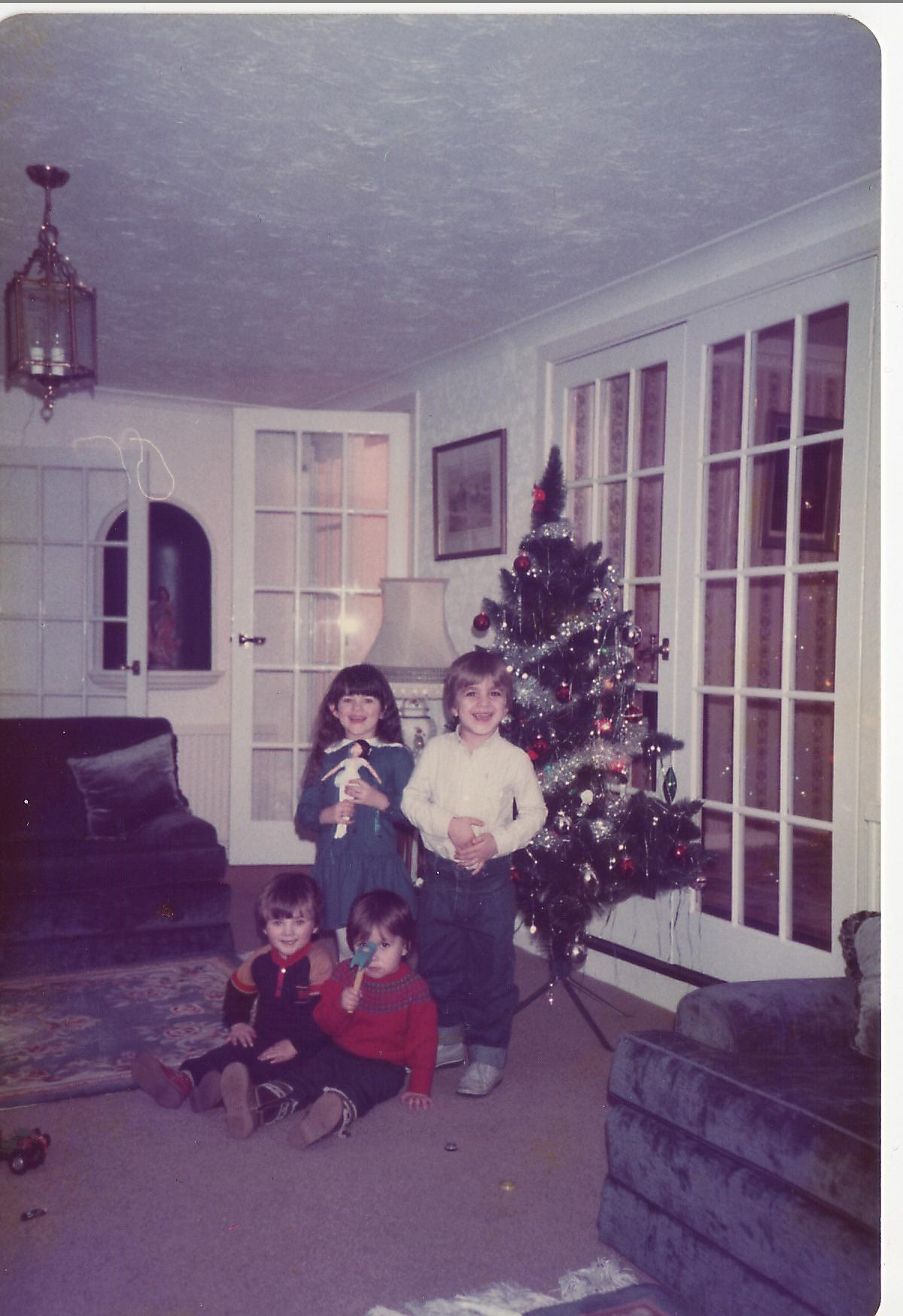 Me, my brother & 2 cousins on Christmas day circa 1986