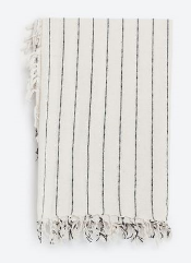 Zara stripe cotton scarf, £17.99