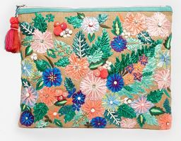 Star Mela floral clutch, £60, asos