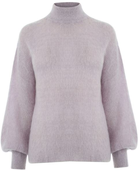 Warehouse blouson sleeve mohair jumper - £55.00
