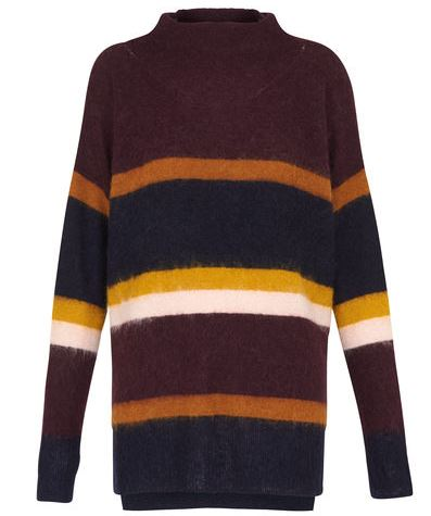 Whistles Stevie stripe mohair jumper - £140.00