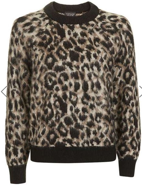 Topshop animal mohair printed jumper - £46.00