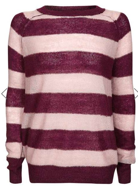 Topshop stripe Mohair jumper - £34.00