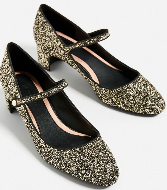 Glitter healed shoes, £29.99, Zara
