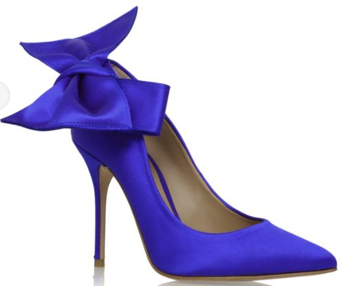 Evie blue high heel court, £230, Kurt Geiger