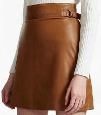 French Connection Goldenberg A-Line leather skirt - £150