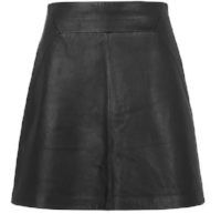 Whistles Leather A-line skirt - £170