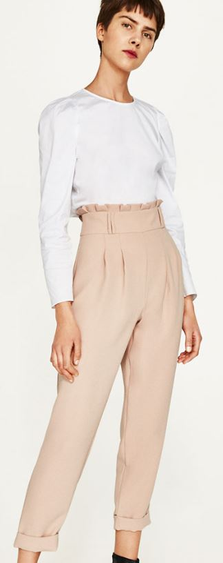 Zara high rise trousers £29.99