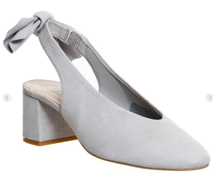 Office Magic bow back grey shoe - £68.00  (as pictured above)