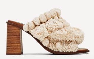 Zara Pom Pom mules - £59.99