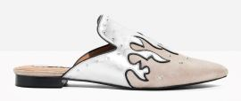 &other stories metallic flame slip on's - £65.00