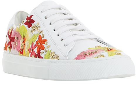 Dune Evanna Embroidered trainers - £95.00