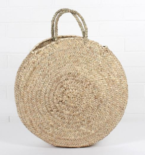 Round Shopper basket, Wood / Grey £29.00