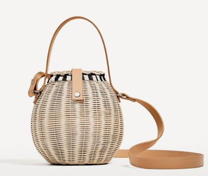 Raffia bucket bag, Zara £39.99