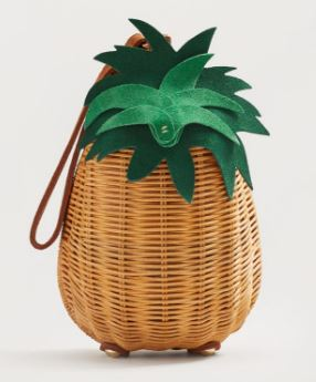 Pineapple raffia clutch, Mango £35.99
