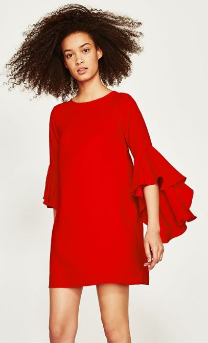 Ruffle dress, Zara £29.99