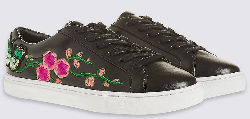 Floral embroidered trainers - £29.50