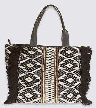 Embellished slouch bag - £39.50