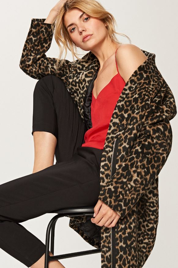 Leopard print coat, Reserved, £49.99