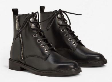 Zipper leather boots, Mango £79.99