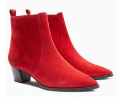 Western block ankle red boots, Next £65