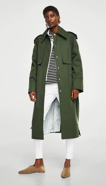 Military-style trench, Mango £99.99