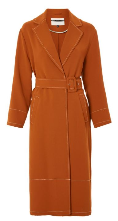 Contrast stitch duster coat, Topshop £79.00