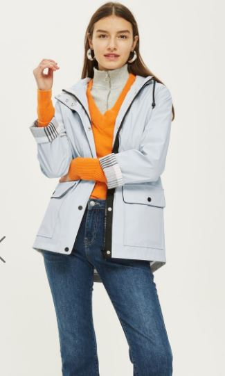 Hooded rain mac, Topshop £49.00