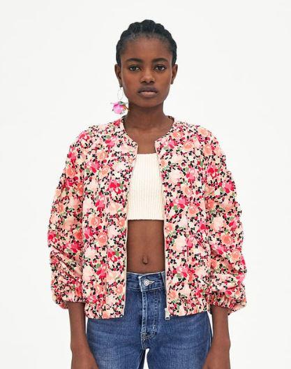 Floral Bomber jacket, Zara £29.99