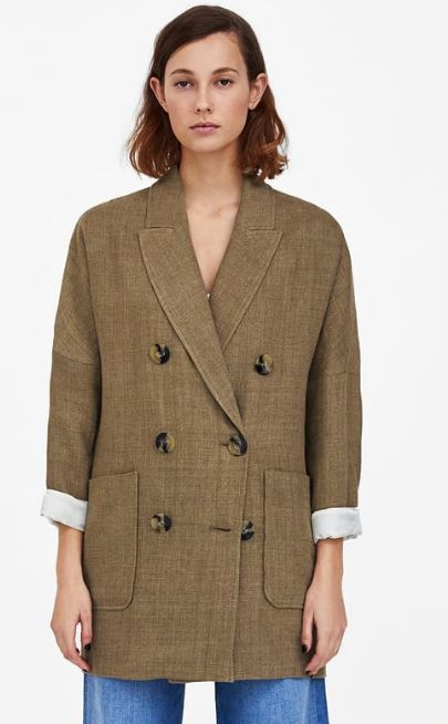 Long textured blazer, Zara £79.99