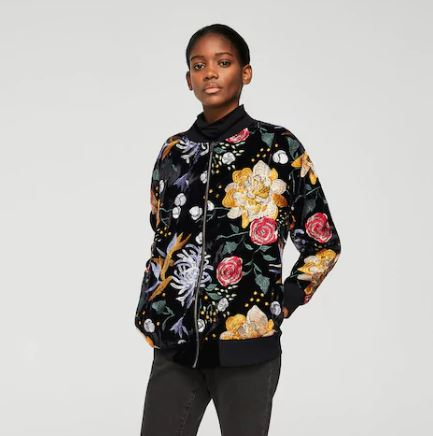 Embroidered floral bomber, Mango £89.99