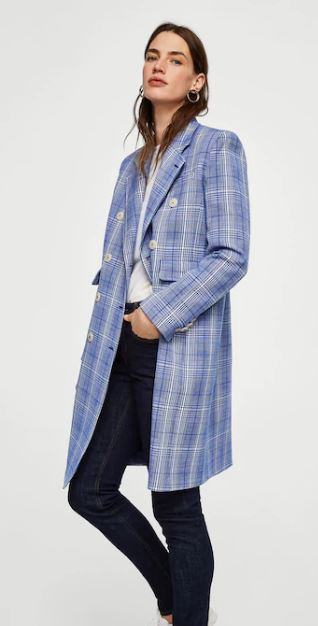 Check structured coat, Mango £119.00