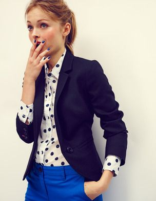 Office dots - The spot print is perfect for the office, lunch out or a meeting - presentable yet stylish.
