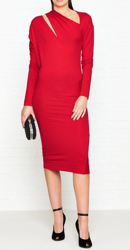 Cut-out red dress, £161.00 Vivienne Westwood, Very Exclusive