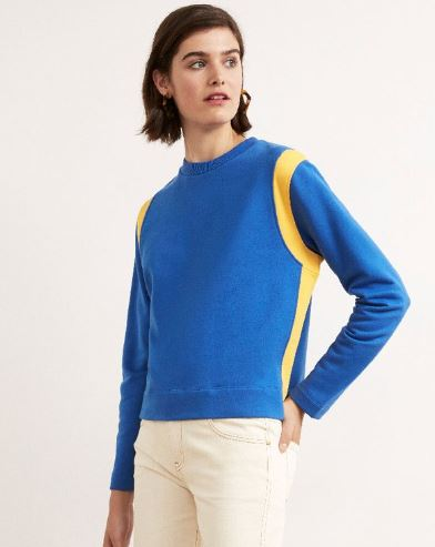 Therese Cotton Contrast jumper, Kitri Studio, £55.00