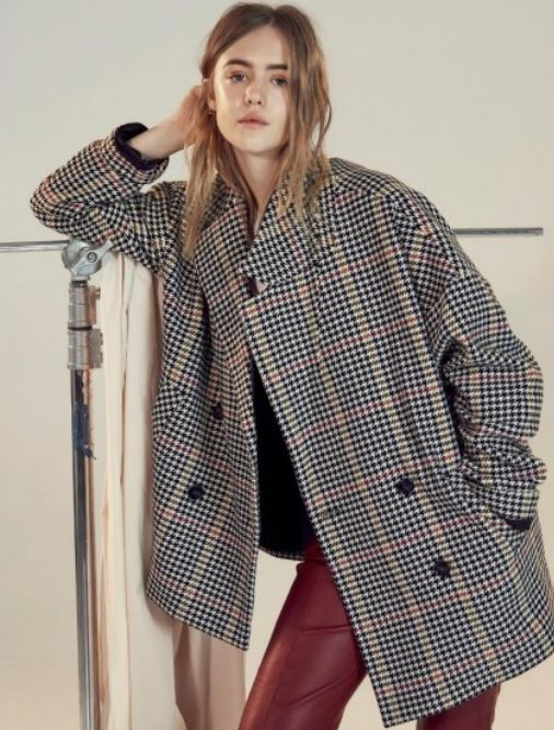 Jodo Checked oversized jacket, Gestuz, Atterley, £290.00