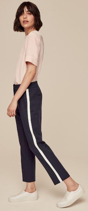 Grosgrain stripe trousers, ME & EM, £129.00