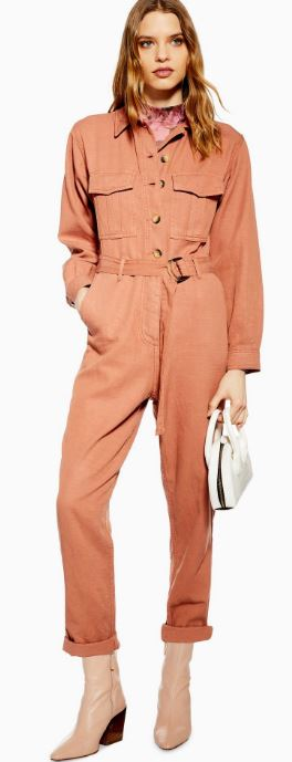 Belted utility boilersuit, Topshop, £59