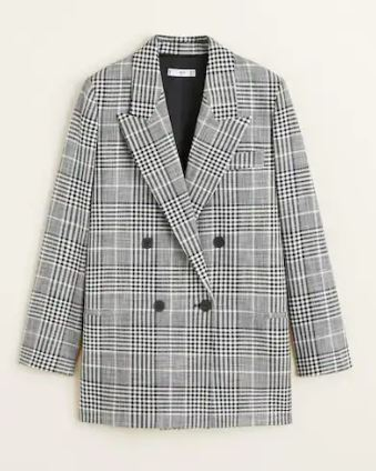 Check suit blazer, Mango, £69.99