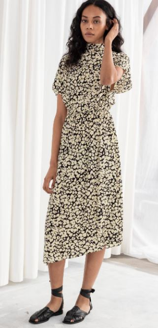 Floral Asymmetric Midi dress, &other stories, £79