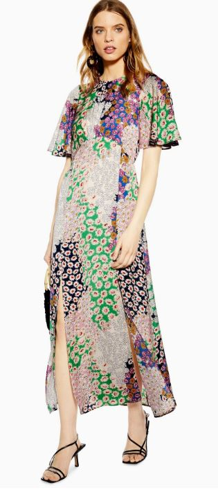 AUSTIN floral midi dress, Topshop, £39