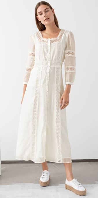 White Lace midi dress, £110, &other stories