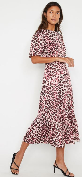 Fluro leopard print dress, £69, Warehouse