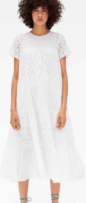 Cutwork embroidery dress, £49.99, Zara