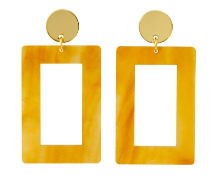 Mica yellow earrings, £65.00, Toolally