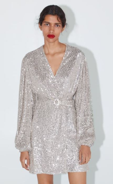 Sequin dress blazer, £89.99, Zara
